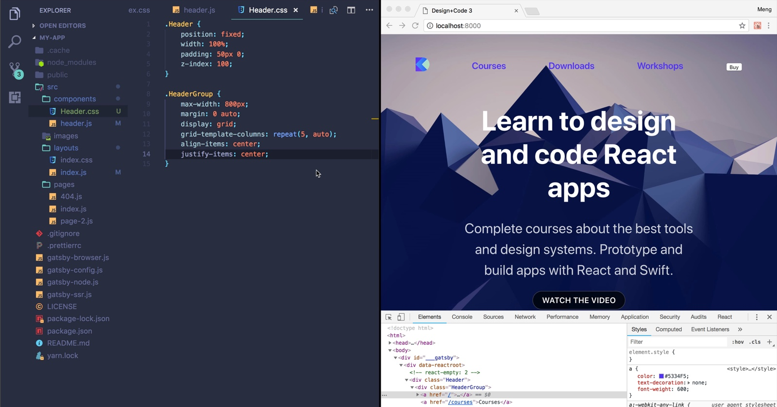 11.03.04_Adaptive_Layouts_with_CSS_Grid-Align_Items