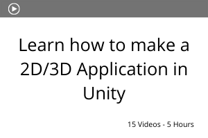 Learn how to make a 2D 3D Application in Unity